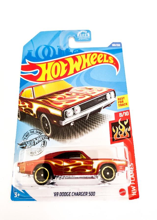 Hot Wheels '69 Dodge Charger 500 HW Flames 8/10-189-250 Hot Wheels Cars Indus-Bazaar IndusBazaar